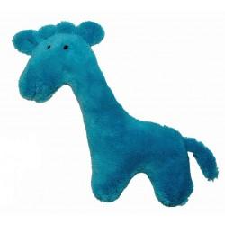 Girafe en peluche bleu turquoise