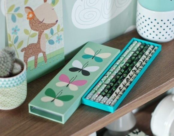 Coffret crayons 'Papillons'