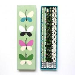 Coffret crayons 'Papillons'