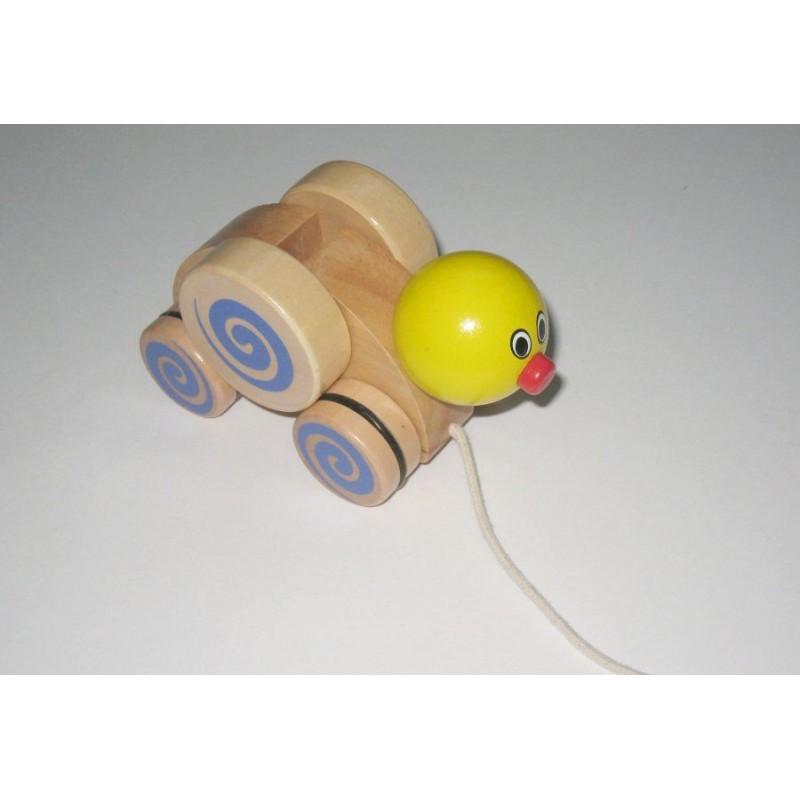 Jouet à tirer 'canard' avec pièce amovible Charl'toys