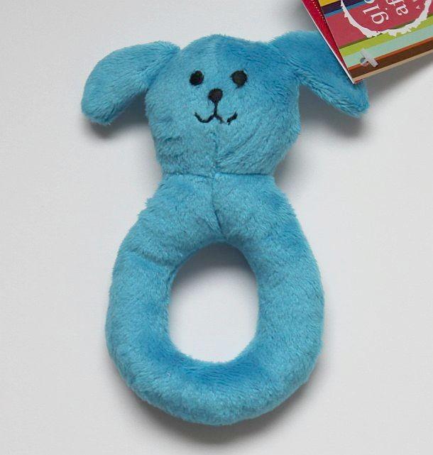 Hochet anneau chien bleu...
