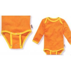 Body avec pressions d'extension 10-24 mois orange