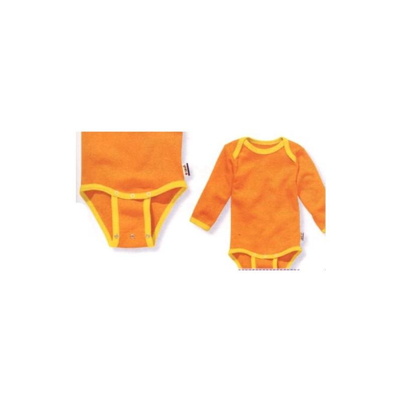 Body avec pressions d'extension 10-24 mois orange