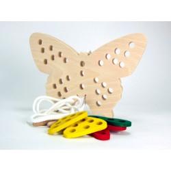 Papillon à lacer-Jeu d'aiguille