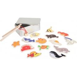 Pêche à la ligne 'animaux de la mer'