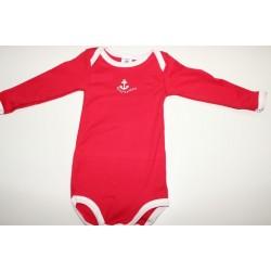 Body rouge en coton 12 mois