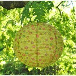 Boule japonaise en papier Jaune prairie