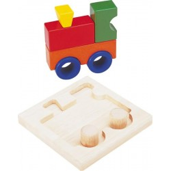 Puzzle en bois 3D 'locomotive'