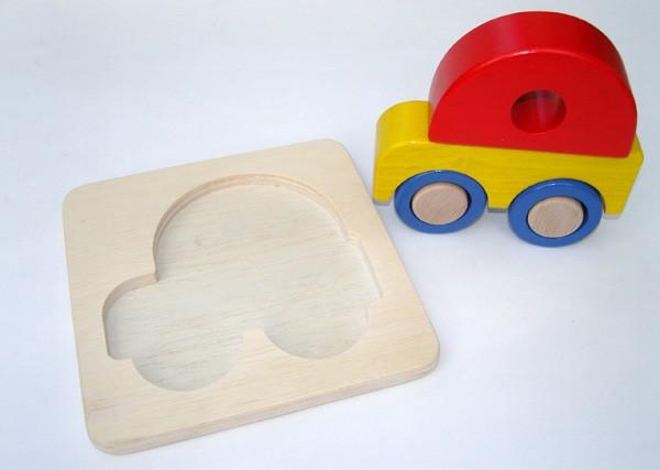 Puzzle en bois 3D 'voiture'
