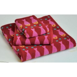 Serviette de toilette 'Swim rouge'