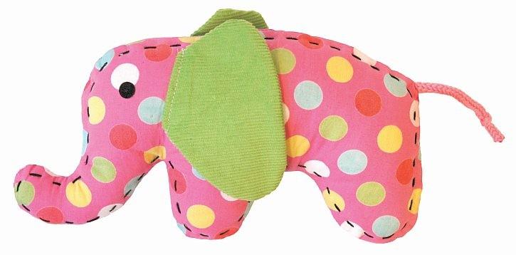 Doudou petit éléphant rose...