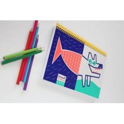 Carnet à dessins 'Exquis Loup'