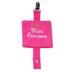 Attache sucette 'Mini Princesse' rose