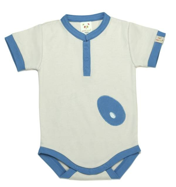 Body 'mandarin bleu' 6-12 mois