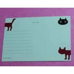 Carte postale 'Silhouette Neko'