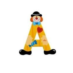 Lettre clown A en bois