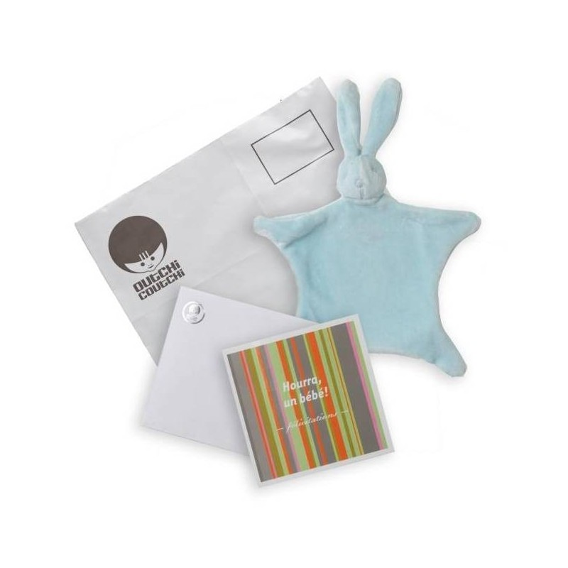 Kit de félicitations avec doudou bleu