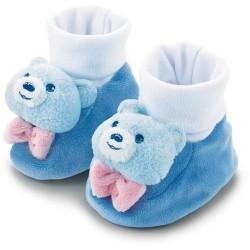 Chaussons bleus à grelots...