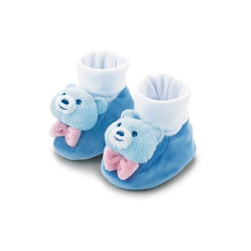 Chaussons bleus à grelots  0 à 6 mois