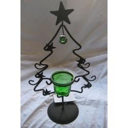 Photophore de Noël  sapin en vert