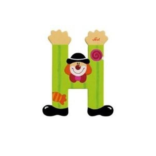 Lettre clown H en bois