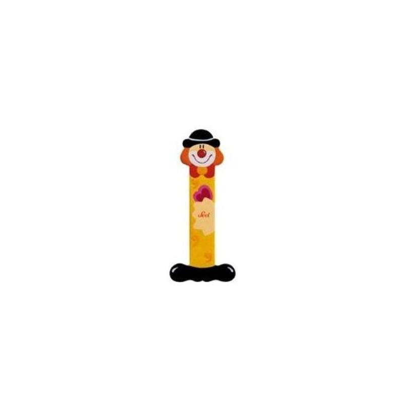 Lettre clown I en bois