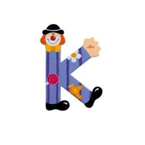 Lettre clown K en bois