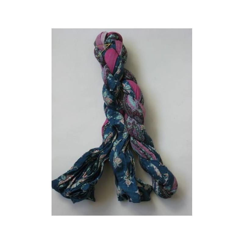Echarpe Chech modèle Lydia bleue