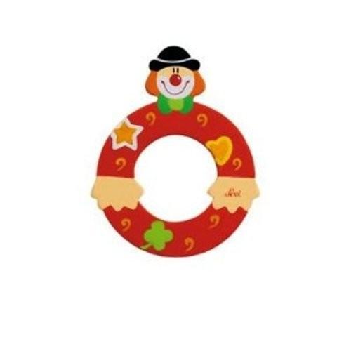 Lettre clown O en bois