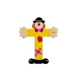 Lettre clown T en bois