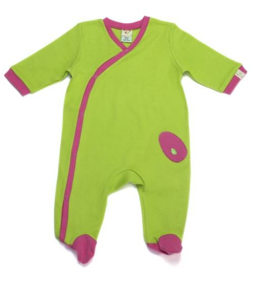 Pyjama vert anis et fushia...