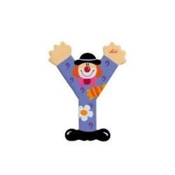 Lettre clown Y en bois