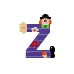 Lettre clown Z en bois