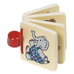 Petit livre imagier en bois 'éléphant'
