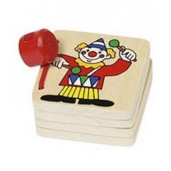 Petit livre imagier en bois 'le clown'