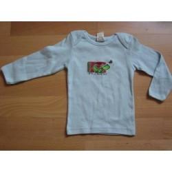 Tee-shirt manches longues bleu 18 mois