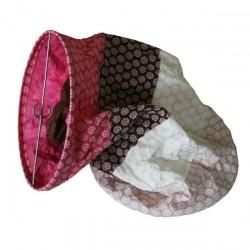 Lampion en papier  motifs fleuris