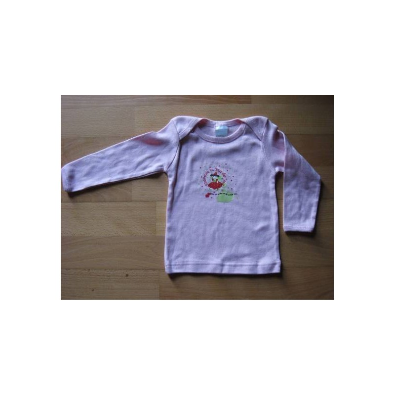 Tee-shirt manches longues rose  12 mois