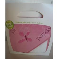 Parure de bain  'Papillon rose'
