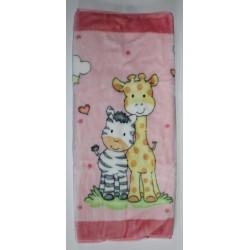 Baby sac-Nid d'ange rose Girafe et Zèbre