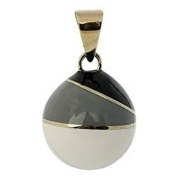 Bola de grossesse 'Blanc-Gris-Noir'