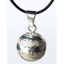 Bola de grossesse 'Brillant Lignées argentées'