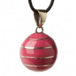 Bola de grossesse 'Babylonia' rose, lignes horizontales