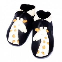 Chaussons souples en cuir 'Girafe'  6-12 mois