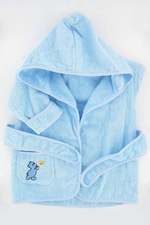 Peignoir bleu et chaussons...