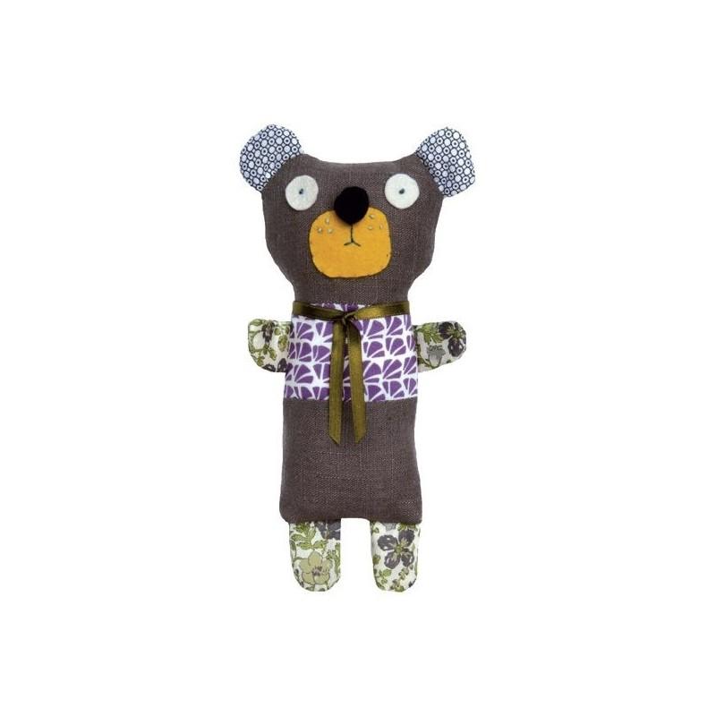 Kit doudou à réaliser 'Augustin l'ours brun'