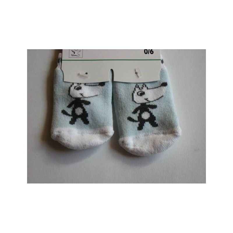 Petites chaussettes motif 'Ptit loup'