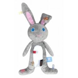 Doudou à étiquettes 'Moochi' le lapin