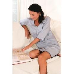 Chemise de nuit d'allaitement bleu chinée  T:L/XL