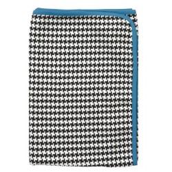 Plaid multifonction bleu 100 % coton